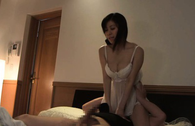 Chihiro akino. Chihiro Akino Asian has heavy assets fondled and rides man on top