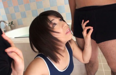 Koharu aoi. Koharu Aoi has hairy slit touched under lingerie and blow dongs