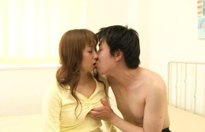 Japanese av model. Japanese AV Model goes nasty on two cocks