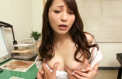 Japanese av model. Japanese AV Model is fingered in hairy slit